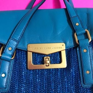 Marc jacobs electric blue satchel
